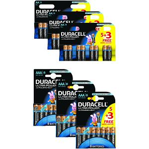 Duracell Ultra Power AAA 24 Pack & 24 AA