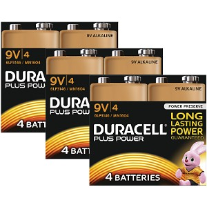 Duracell Plus Power 9v Packet Med 12