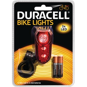 Duracell 3 LED  Rear Bicycle Light