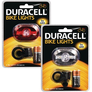 5 LED Front & Rear Bicycle Light Set