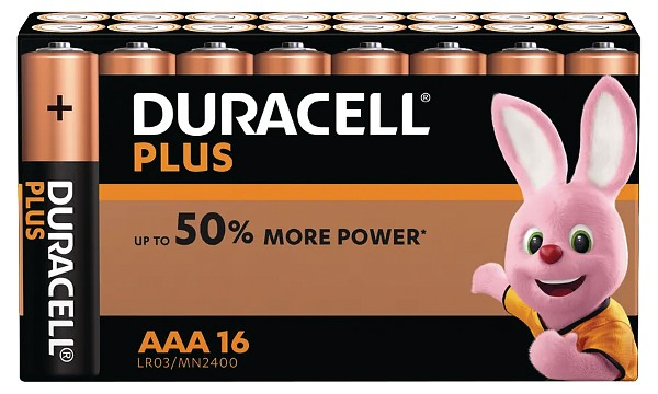 Duracell Plus Power AAA 16 Packs Batterier