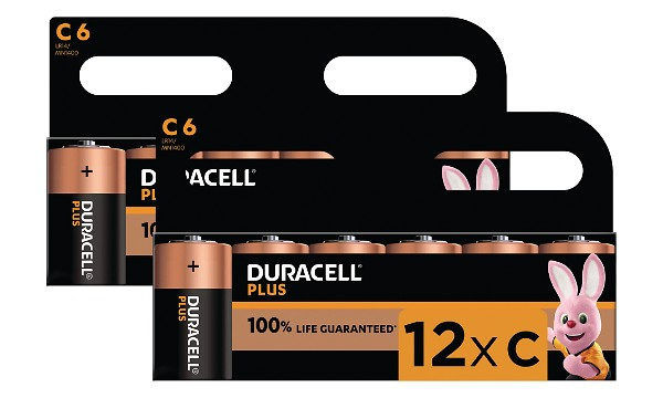 Duracell Plus Power C-storlek (12-pack)
