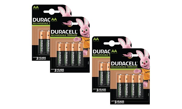 Duracell AA 1300mAh Rechargeable 16 Pack